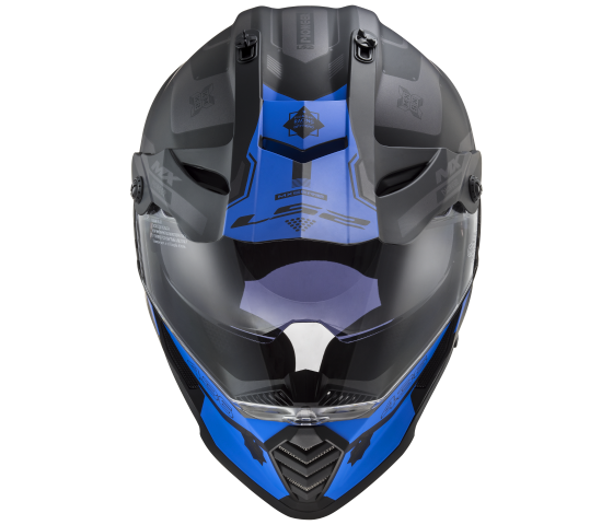 MX436 Pioneer EVO COBRA Matt Black Blue